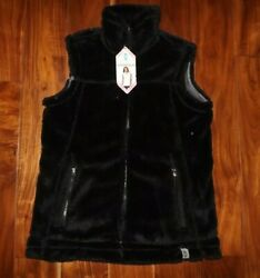 FREE COUNTRY Womens Black Alpine Butter Pile Sherpa Vest Jacket Size L NWT $28.95