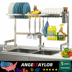 Dish Drying Rack Above The Sink Stainless Steel Kitchen Holder Large Capacity $39.00