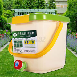 12L Kitchen Food Waste Recycle Composter Aerated Compost Bin Bokashi Bucket $47.96