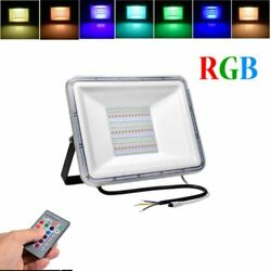 30W 50W 100W RGB LED Flood Light Outdoor Garden Color Changing Remote US $18.79