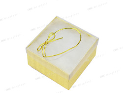 30pc Clear Lid Gift Boxes Gold Jewelry Boxes Cotton Filled Gold Boxes FREE Bows $38.26
