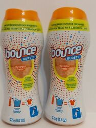 2 Bounce Bursts Outdoor Fresh In Wash Scent Booster 9.75 Oz Each $49.99