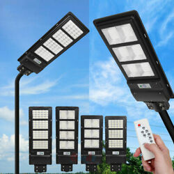 14000LM Outdoor Commercial LED Solar Street Light IP67 Sensor Dusk to DawnPole