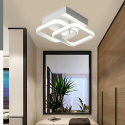 Modern LED Ceiling Light For Hallway Entryway Aisle Square Chandelier Lamp $29.02