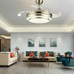 42quot; 36quot;Dimmable Ceiling Fan Light Chandelier with LED Retractable Blades Remote $99.75