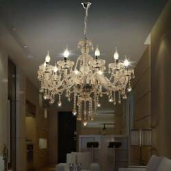 Modern Crystal Chandelier 10 Arms Pendant Light Home Wedding Clear Ceiling Decor $98.99