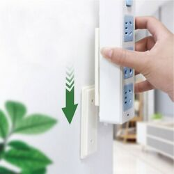 6Pcs Utility Wall mounted Hanging Socket Organizer Holder for Hotel $6.27