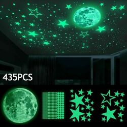 435x Luminous Dots Stars and Full Moon Wall Stickers Decor for Kids Bedroom $5.78