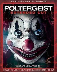 Poltergeist Extended Cut 3D 2D Blu ray 2 Disc Set Digital HD NEW Free Shipping $15.79