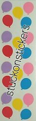 Mrs Grossman#x27;s BALLOONS SMALL Stickers party celebrate birthday decorations kid $1.64