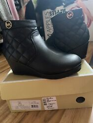 Little Girls Michael Kors Boots Shoes Winter Fall Clothes Boots With Wedge $14.60