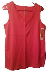 Womens Size Large NWT Lace Trim Tank $4.99