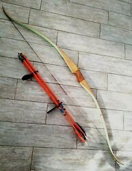 Vintage Bear Glass Powered Cub Recurve Bow 60quot; 40# Bear Archery RH with Arrows $139.00