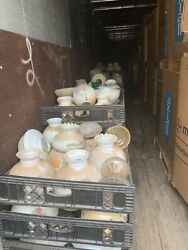Antique Lamp Shades Globes Glass Hand Pinted Scanned Collectable Local Pick Up $12.00