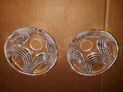 20VV10 PAIR OF CHANDELIER SHADES GLASS: 2quot; OD 4 5 8quot; OD 2 3 8quot; TALL 1 3 16quot; $9.90