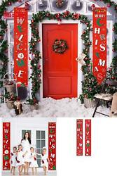 Idvu Christmas Banners Front Porch For Home Modern Decorations Farmhouse Decor M $17.01