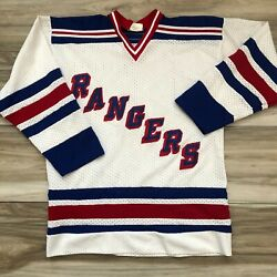 Vintage PAW New York Rangers NHL Hockey Jersey Men#x27;s Size Large Sewn Logo $29.99