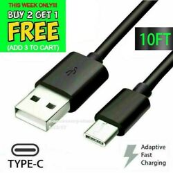 10FT Type USB C to USB A Fast Charge Cable Cord Quick Charger Charging Data Sync $5.99
