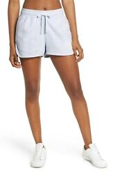 Nike Women Sportswear Cotton Washed Short Blue Size Large $12.79