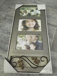 Fetco Home Decor Picture Frame Holds Three 6quot; x 4quot; Photos $10.00