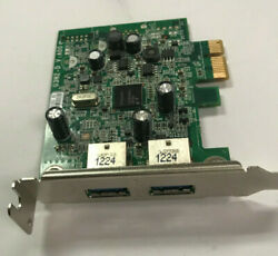 DELL DUEL PORT USB 3.0 PCI EXPRESS CARD LOW PROFILE P N:0FWGJ8 TESTED $9.95