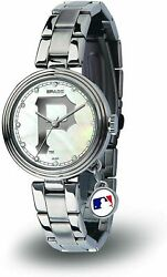 NEW PITTSBURGH PIRATES WOMEN#x27;S CHARM WATCH MOTHER OF PEARL LICENSED $48.95