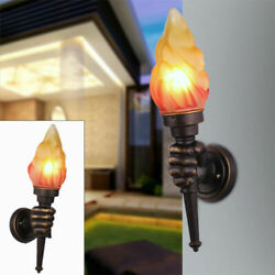 Retro Style Torch Lamp Loft Iron Rustic Sconce Light Wall Wall Fixtures US NEW $54.00