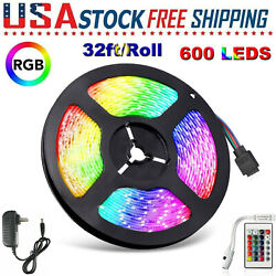 32FT Flexible 3528 RGB LED SMD Strip Light Remote Fairy Lights Room TV Party Bar $9.99
