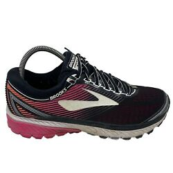 Brooks Ghost 10 Womens Size 9 Athletic Running Shoes Black Pink White $29.99