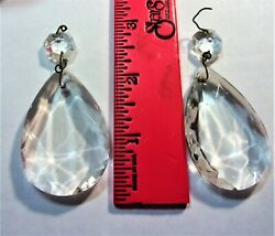 5 pc. 2quot; Teardrop Chandelier Prisms..wt button.. $4.99