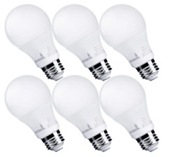 6 Pack Hyperikon A19 Dimmable LED Light Bulb 9W=60W Daylight White