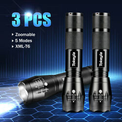 3 x LED Flashlight Super Bright 50000LM 18650 Zoomable Waterproof Torch $11.11