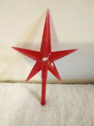 Vintage Red Aurora Large Star for Ceramic Christmas Tree Topper Hole in Middle $6.99