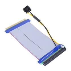 6X to 16X Power PCI E Riser Extension Cable PCI Express Riser Card Adapter ③ C $8.81