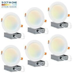 Hyperikon 6 inch LED Recessed Lighting Selectable Color Temperature 6 Pack