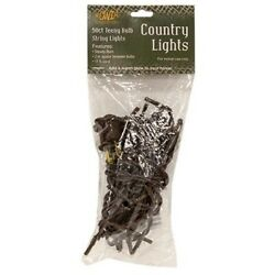 Teeny Tiny Rice Light String Brown Cord 50 Count 1 Pack Strand $14.48