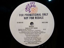 CIRCLE CITY BAND Magic 1983 Circle City Records PROMO Boogie Funk Soul NM $50.00