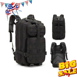 30L Sports Military Rucksacks Tactical Backpack Trekking Black Shoulders Bag USA $21.99