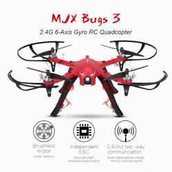 Mjx Bugs 3 Drone Quadcopter Brushless Motors Camera Support Long Flight Time Red $99.95