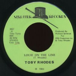 modern soul jazz funk boogie 7quot; TOBY RHODES Louie The Line Take It ♫ NM 1983 MP3 $26.99