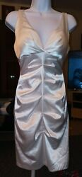 ONYX Nite Wendy Chaitin Formal Party Short White Cocktail Dress Size 4 $19.00