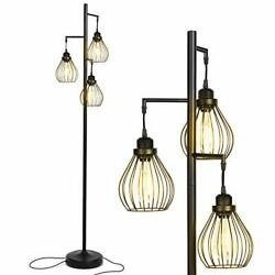 Teardrop Floor Lamp Matches Industrial Farmhouse amp; Rustic Living Rooms $189.99