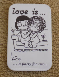 1985 quot;Love is a Party for Twoquot; Metal Pin by KIM Cadali LA Times Syndication $8.79
