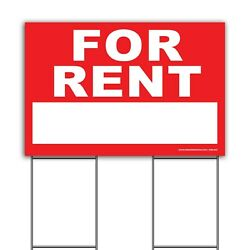 FOR RENT Real Estate 36quot;x24quot; Extra Large Signs Waterproof Double Sided Print $21.99