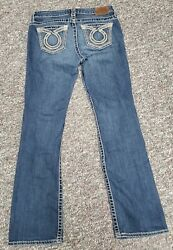 Big Star Womens New Hazel Boot Cut Jeans Distressed Medium Wash Size 29r $30.00