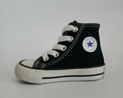 Converse All Star Toddler Black White High Tops Sneaker Shoes Size 3 Used $16.95