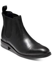Cole Haan 251997 Mens Conway Leather Waterproof Chelsea Boots Black Size 9 M $180.00