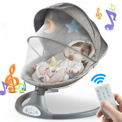 Remote Electric Baby Swing Cradle Infant Music Rocking Chair Sway Seat Bouncer $85.99