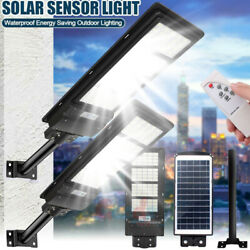 2020 NEW LED Commercial Solar Street Light 110000LM Motion Sensor RemotePole