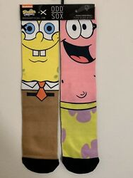 ODD SOX Nickelodeon SPONGEBOB AND PATRICK Star socks Adult size 6 13 $11.99